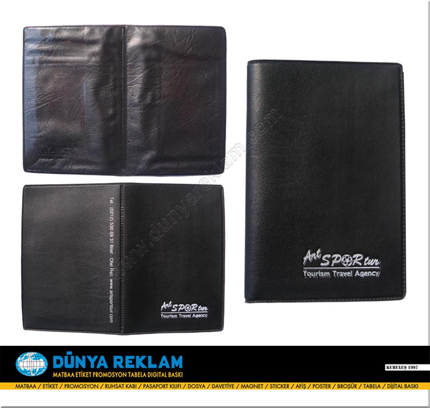 Suni Deri Pasaport Kabı